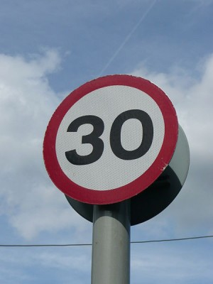 The 30mph speed limit is a limit, not a target
