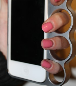 An iPhone knuckle duster case like the one used by Rihanna that has been banned from eBay