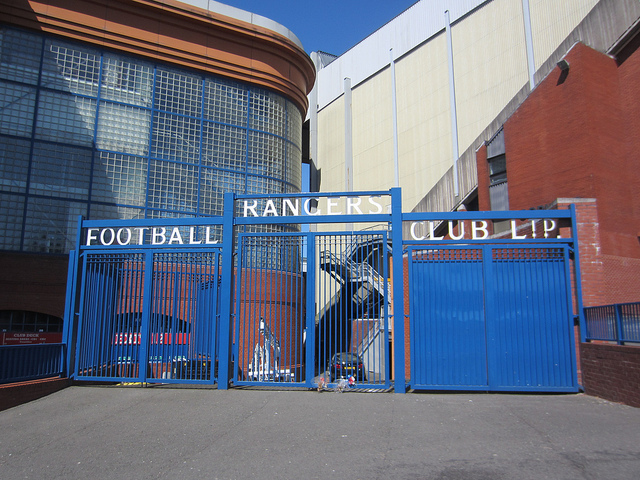 Ibrox, the home of Glasgow Rangers