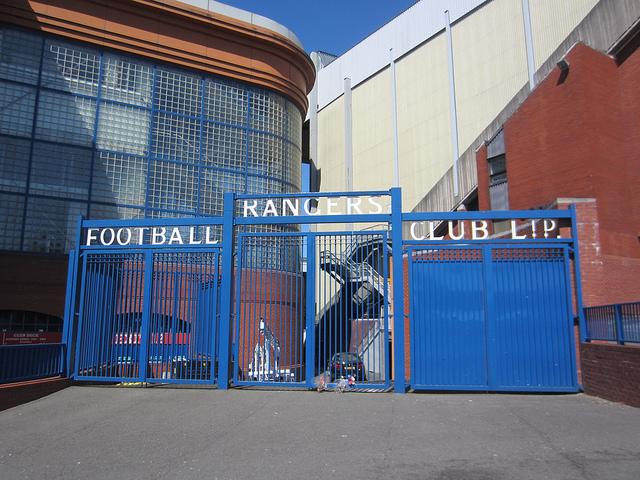 Ibrox, the home of Glasgow Rangers