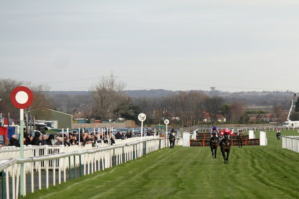 The finishing post at Aintree (Flickr)