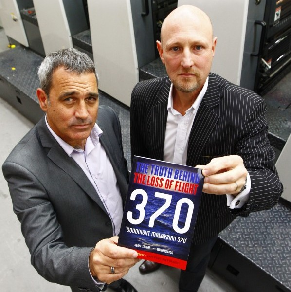 Geoff Taylor and Ewan Wilson with their book