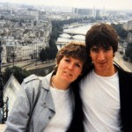 The couple on holiday Paris in 1984... still with no plans to wed