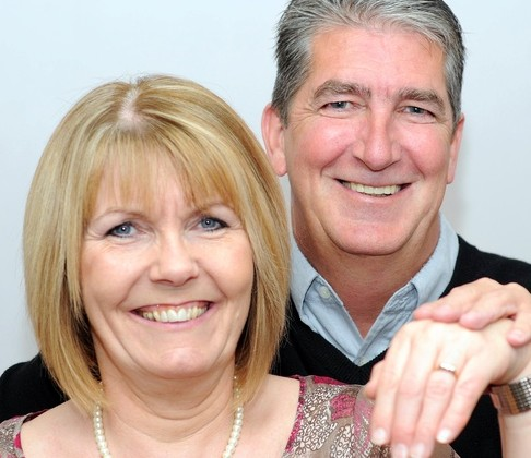 Happily engaged: George Brown, 58, and Glynis Johnstone, 55, have been together for 32 years without marrying