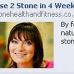 The advert on Facebook using Lorraine Kelly's picture to sell weight loss pills