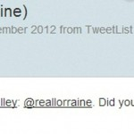Lorraine Kelly's Tweet about the use of her photo on diet pill adverts