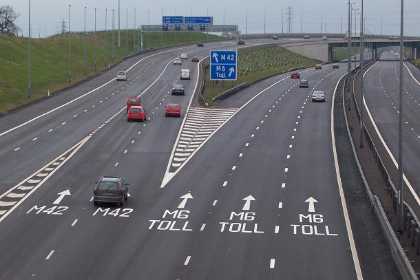The M6 Toll road in the west midlands (file picture / wikicommons)