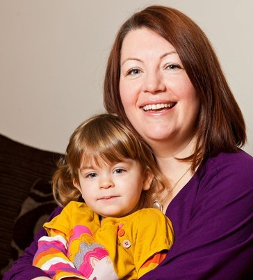 Natalie Fenton, 38, with daughter Ava Fenton, 2, who needs a pacemaker to stop her passing out she cries