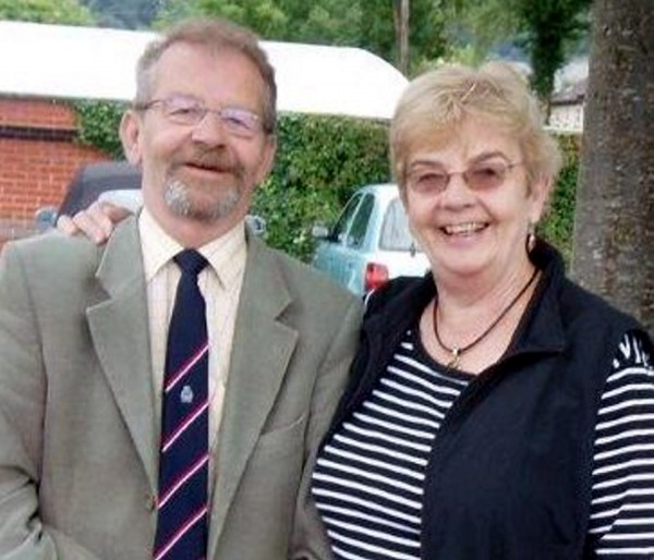 Tom Tubb pictured with his sister Pauline Simpson