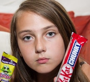 Holli McCann who was sent home from school trip for eating chocolate
