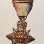 Stg Stephen Eggleston's WW1 Mons Star medal that was lost on a beach