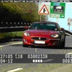 Greg Wallace is photographed speeding in his red Jaguar XK