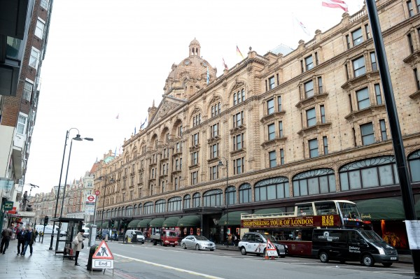 The Harrods store in Knightsbridge, London
