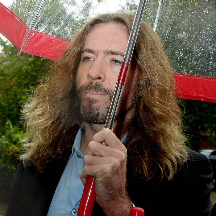 Justin Lee Collins arrives at St Albans Crown Court in relation to harrassing his ex-girlfriend