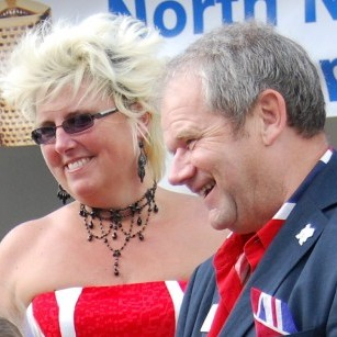 Former North Norfolk District Council leader Keith Johnson with his wife Andrea