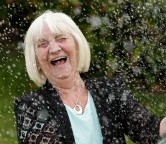 Jean Swatman celebrates her £2 million lottery win after breaking her routine and buying a ticket from a different shop