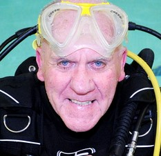 Grandfather of three Brian Wall who is a newly qualified diver with BSAC at the age of 74