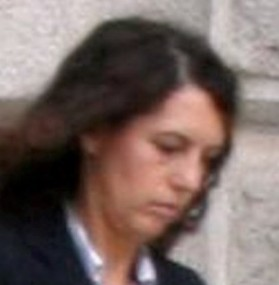 Former prison counsellor Anita Setz leaves the inquest at County Hall, Maidstone, into the death of Anthony Dunne