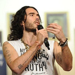 Russell Brand rambles to students at Cambridge Union Society