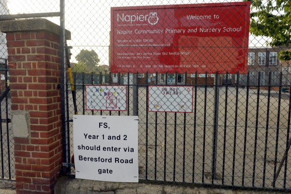 Napier Primary School in Gillingham, Kent, where six-year-old pupil was sent to the GP with the wrong grandfather
