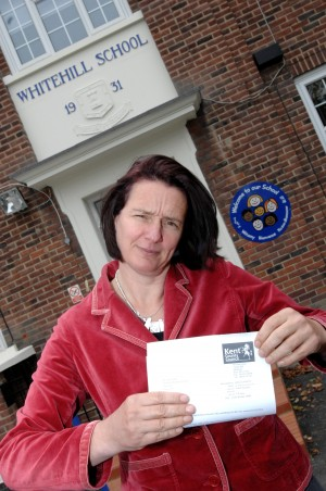 Jane Porter Headteacher of Whitehill Primary School in Sun lane, Gravesend, where kids are banned from discussing Christmas until December 1