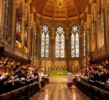 First year students begin life at Cambridge University in the splendour of St John's college's spectacular chapel