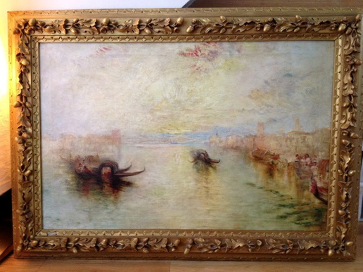The painting discovered by Christian Furr which may be a lost Turner