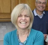 Diane, left, with her husband Chas Howell and right, her sister Jo and her husband Graham Hatfield
