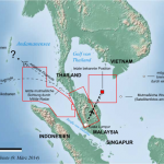 This map shows the intended route of missing flight MH370