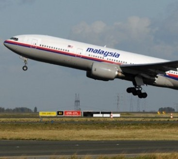 A Malaysian Airlines plane similar to the MH370 that went missing