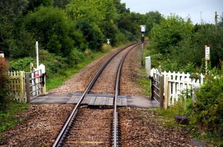 Minety Crossing in Wiltshire close to where the high speed train caught fire