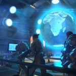 A screenshot of XCOM, showing the mission control centre from where you plan your defence of the planet