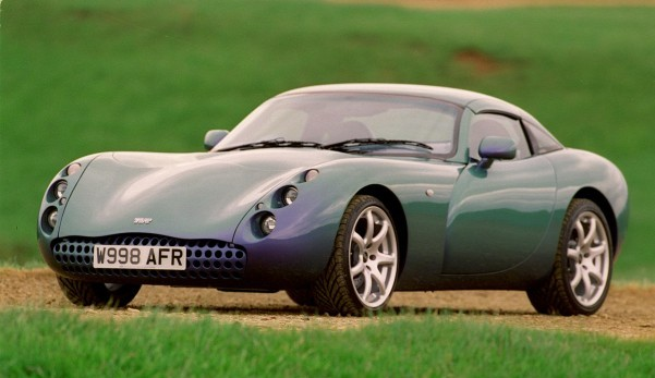The TVR is a prestigious British sports car
