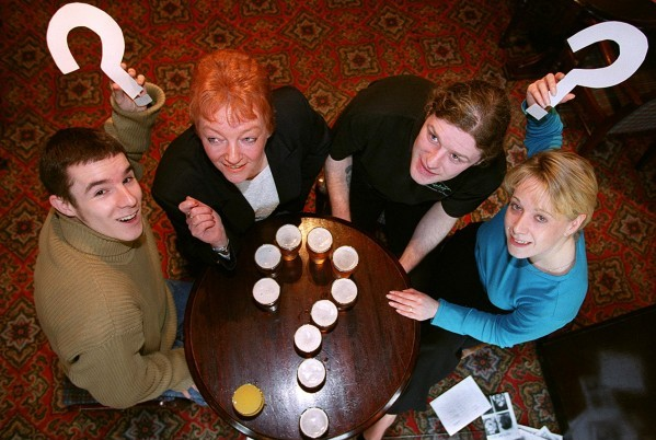 Smartphone apps have revolutionised the tradition pub quiz (file picture)