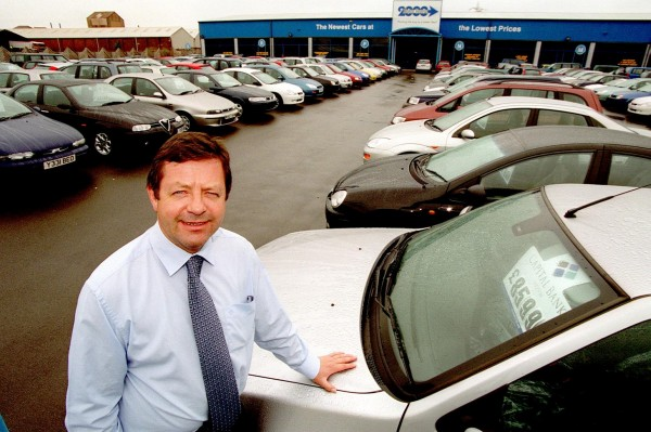 Sales of new cars in the UK have reached a 10 year high after 2.5 million were sold in 2014 (file picture)