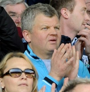 West Bromwich Albion fan Adrian Chiles in the crowd at a recent game