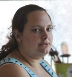 Amy Tatton pictured in the kitchen of her home, where she claimed robbers had broken in