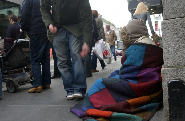 Beggars in Nottingham are raking in £700 a week (file picture)