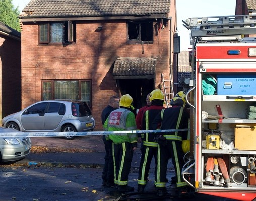 The home in Edgbaston, Birmingham, where a woman has died and three others are critical after a fire