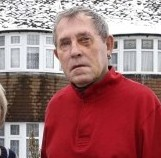 Brian Cox with his wife Joy outside their home in Northampton where he was attacked by youths