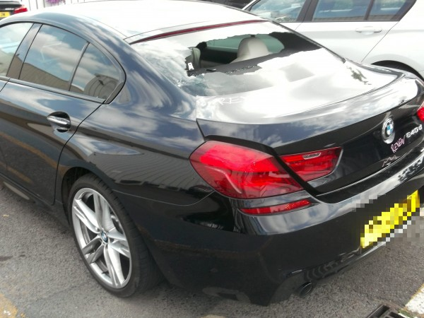David Elliott's BMW after it was crushed by a Morrison's car wash