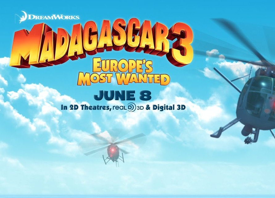 Madagascar 3 is an animated cartoon for children