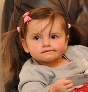 Aimee-Leigh Groves, aged two, could not get the TV and DVD player because Comet would not accept a charity voucher as payment