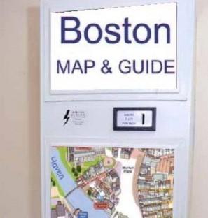 Artists impression of a condom machine re-purposed to dispense maps