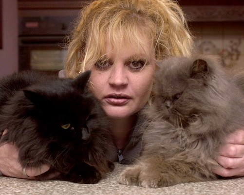 Catherine and her two cats that appeared in Coronation Street