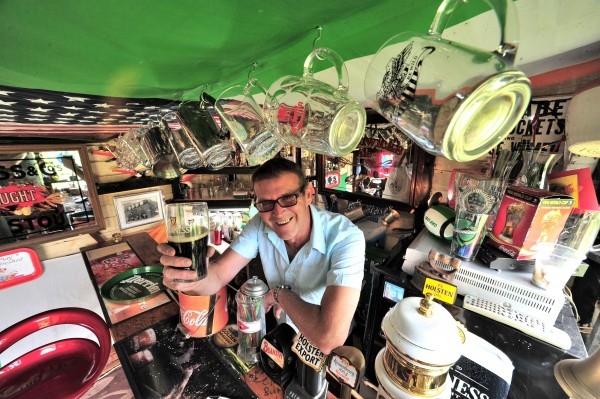 Barry MacGabhann has transformed his garden shed into a pub