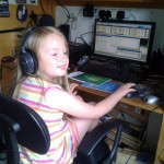 Amber Jacobs practices her radio show at home in Worcestershire. She is set to become the world's youngest radio DJ