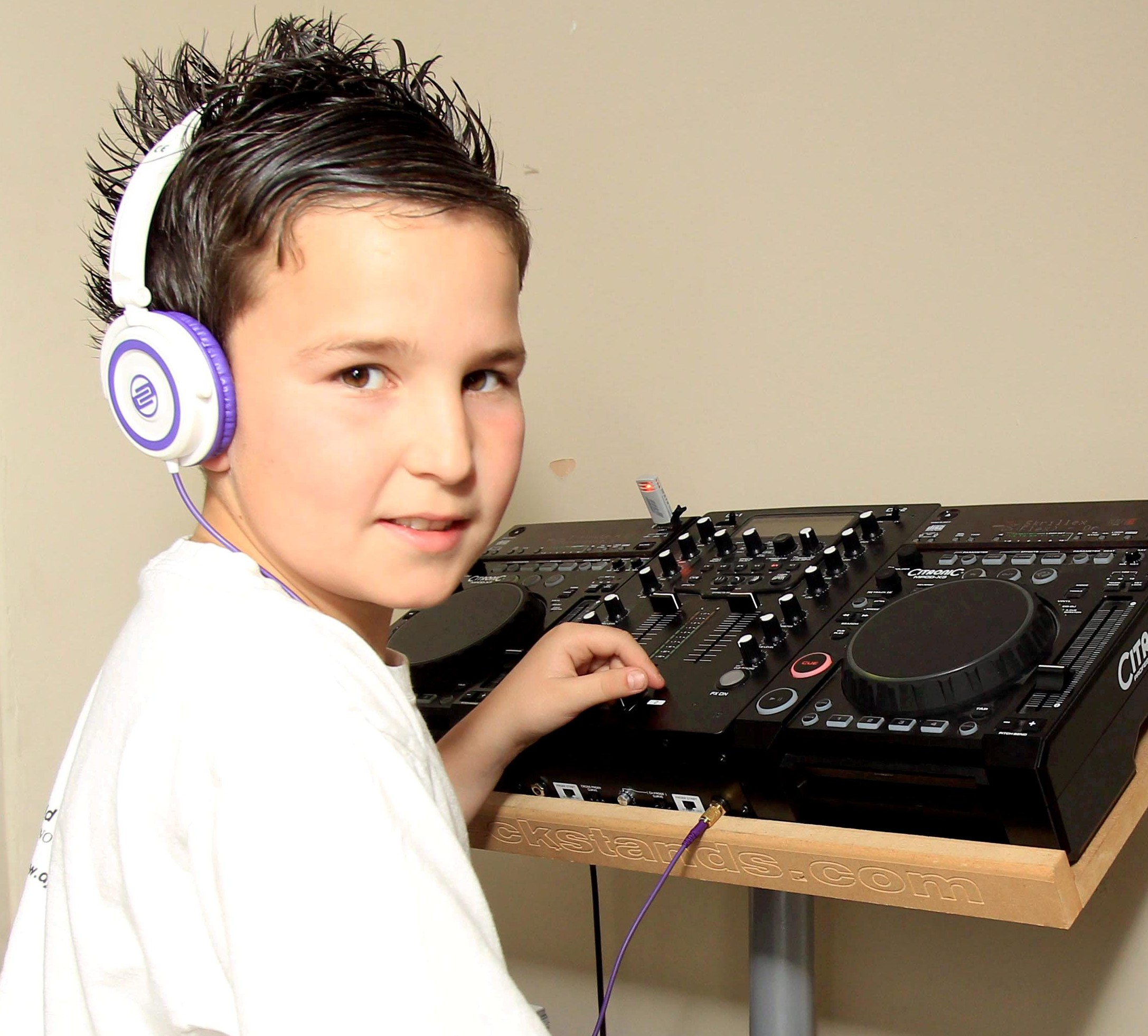 DJ Jack Hill, 11, had his decks mistaken at an airport for a bomb after he performed on Britain's Got Talent