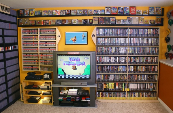 The collection includes 58 different consoles and 5,700 games