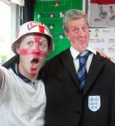 Ben with his life-sized Roy Hodgson